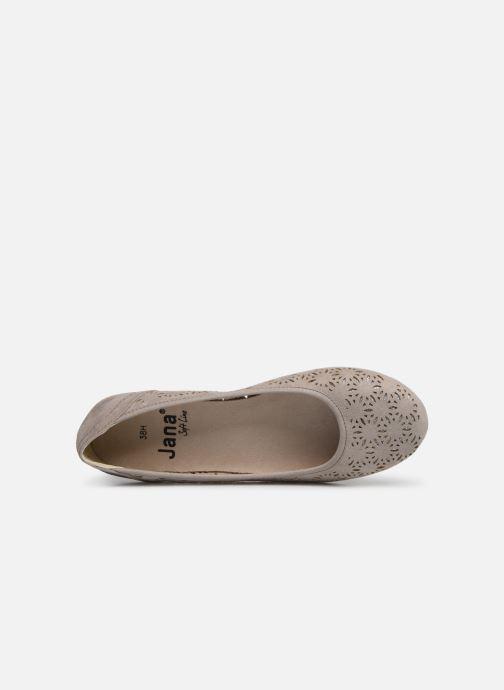 Ballerines Jana shoes Louise Beige vue gauche