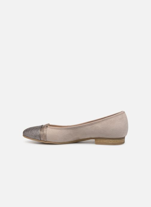 Ballerines Jana shoes Camille Beige vue face