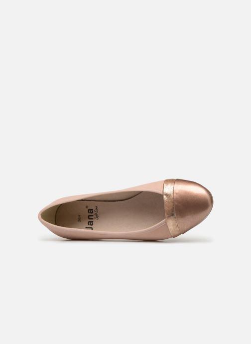 Bailarinas Jana shoes Camille Rosa vista lateral izquierda