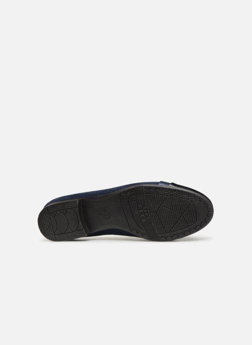 Ballerines Jana shoes Camille Bleu vue haut