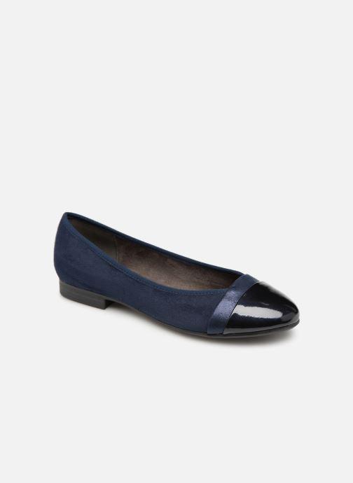 Ballerines Jana shoes Camille Bleu vue détail/paire