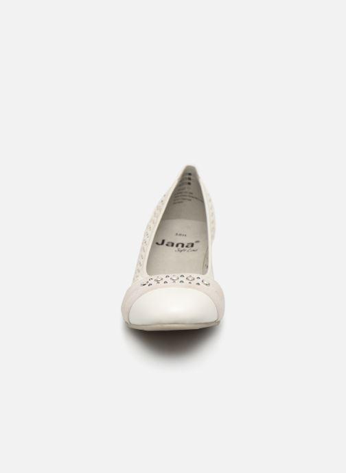 High heels Jana shoes Lea White model view