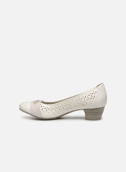 High heels Jana shoes Lea White front view