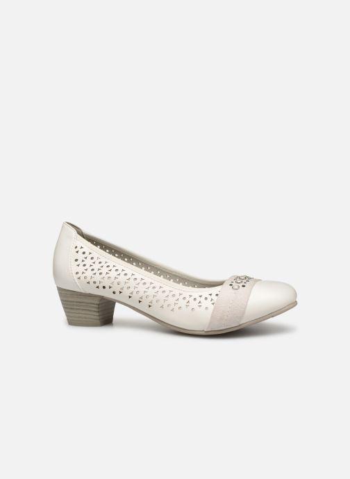 High heels Jana shoes Lea White back view