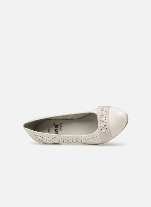 Escarpins Jana shoes Lea Blanc vue gauche