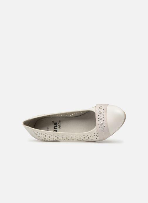 Zapatos de tacón Jana shoes Lea Blanco vista lateral izquierda