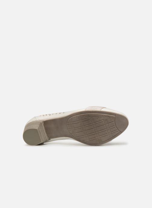 Escarpins Jana shoes Lea Blanc vue haut