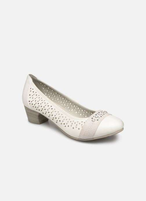 High heels Jana shoes Lea White detailed view/ Pair view