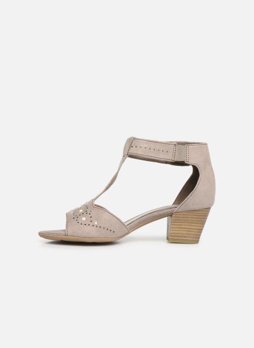 Sandalen Jana shoes Salma grau ansicht von vorne