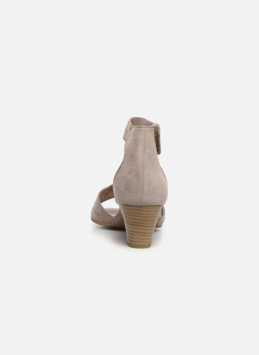 Sandales et nu-pieds Jana shoes Salma Gris vue droite