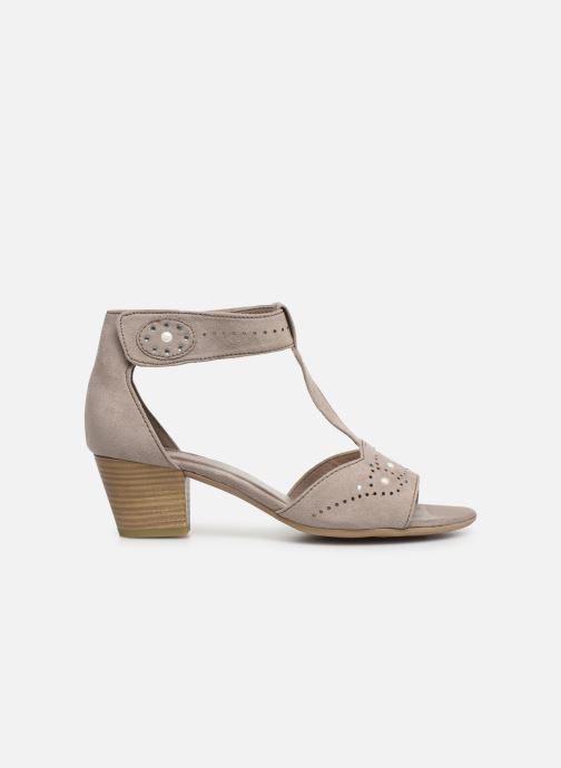 Sandalen Jana shoes Salma grau ansicht von hinten