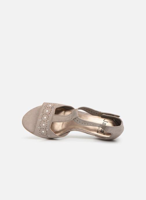 Sandalen Jana shoes Salma grau ansicht von links