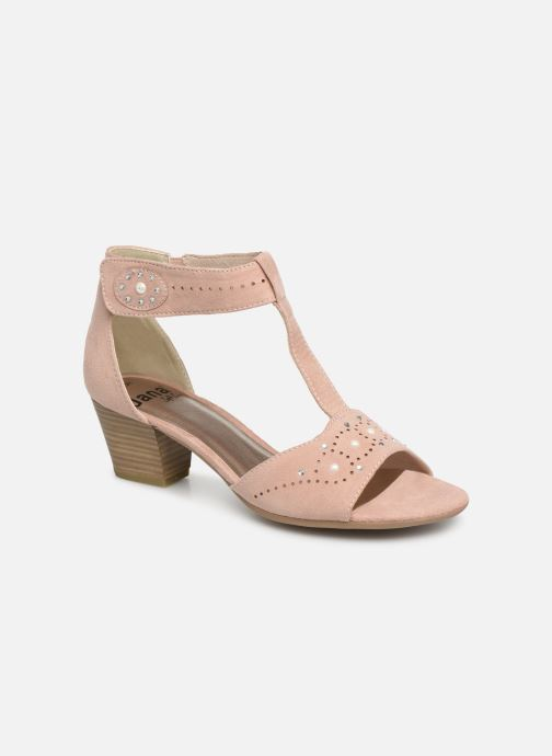 Sandals Jana shoes Salma Pink detailed view/ Pair view