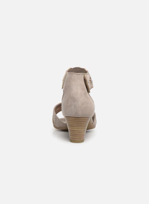 Sandales et nu-pieds Jana shoes Naomi Gris vue droite