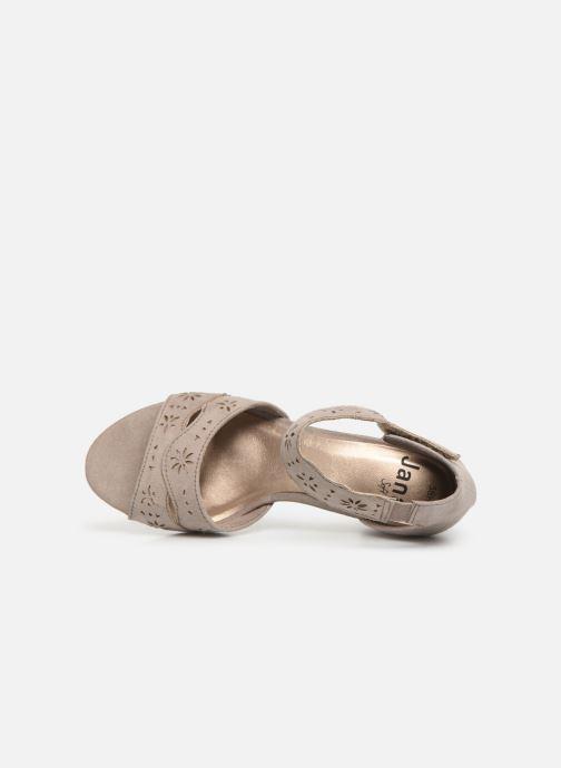 Sandaler Jana shoes Naomi Grå bild från vänster sidan