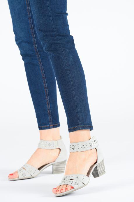 Sandales et nu-pieds Jana shoes Naomi Gris vue bas / vue portée sac