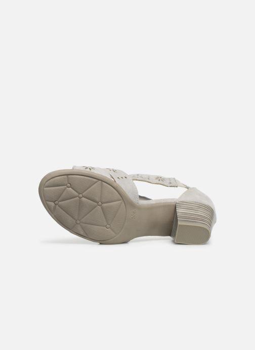 Sandales et nu-pieds Jana shoes Naomi Gris vue haut