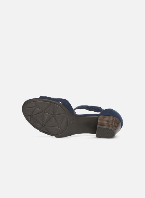 Sandales et nu-pieds Jana shoes Naomi Bleu vue haut
