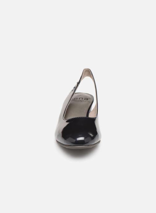 High heels Jana shoes Isaure Blue model view