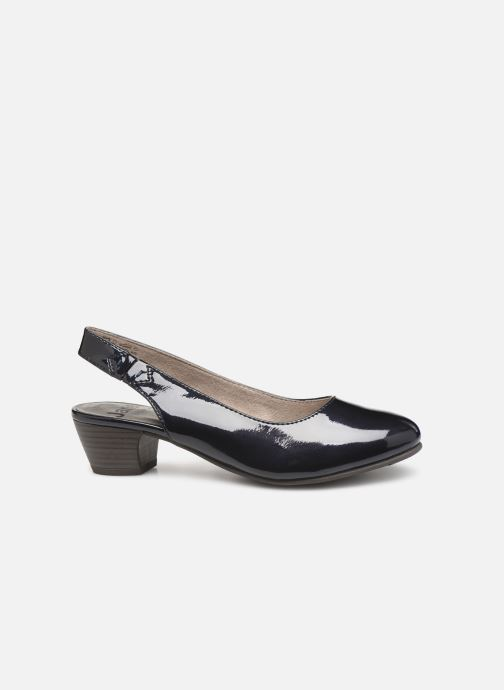 High heels Jana shoes Isaure Blue back view