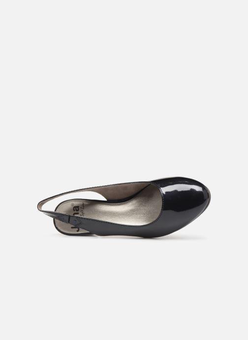 Zapatos de tacón Jana shoes Isaure Azul vista lateral izquierda