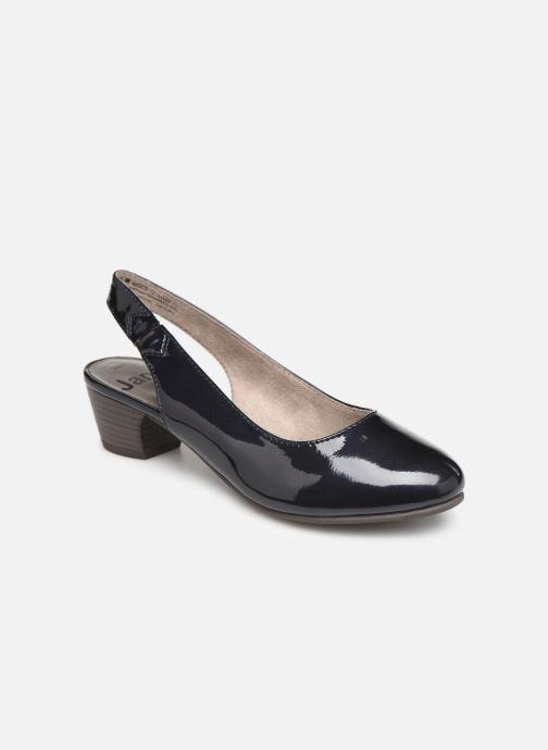 Høje hæle Jana shoes Isaure Blå detaljeret billede af skoene