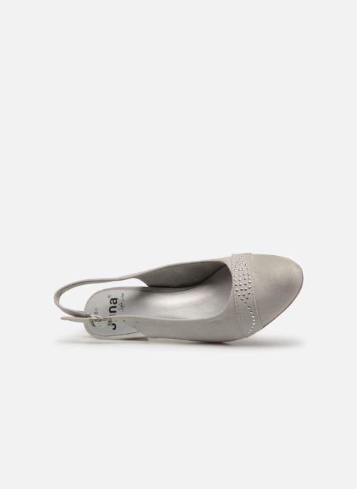 Escarpins Jana shoes Nora Gris vue gauche