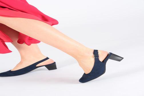 Escarpins Jana shoes Nora Bleu vue bas / vue portée sac