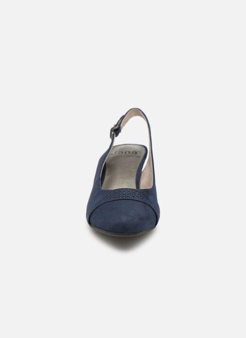 Escarpins Jana shoes Nora Bleu vue portées chaussures