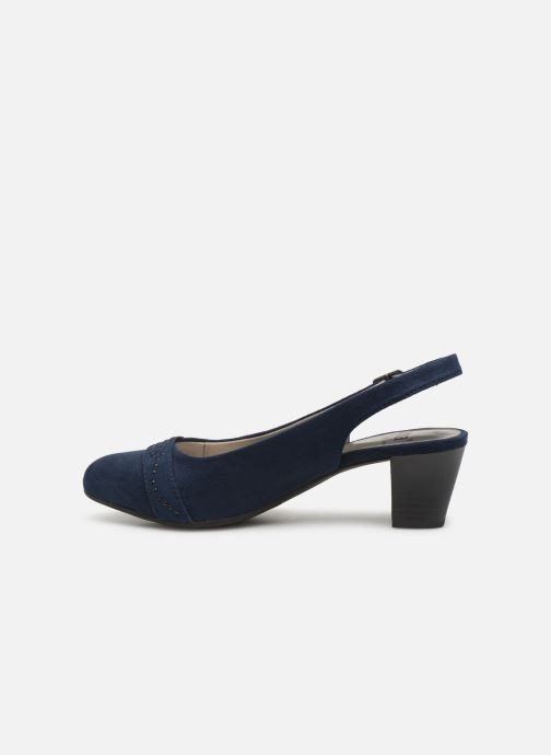High heels Jana shoes Nora Blue front view