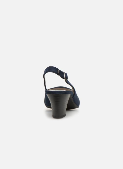 Escarpins Jana shoes Nora Bleu vue droite