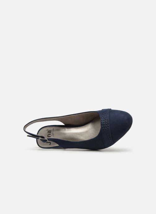 Escarpins Jana shoes Nora Bleu vue gauche