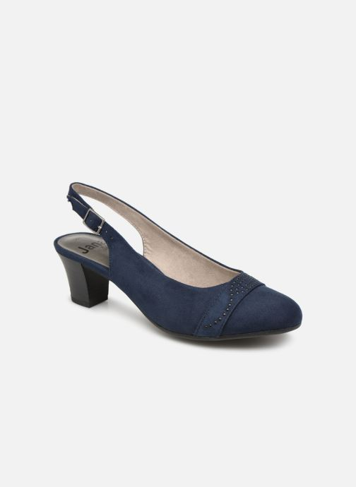 High heels Jana shoes Nora Blue detailed view/ Pair view