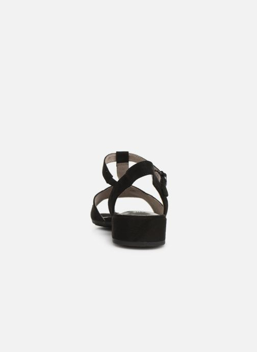 Sandals Jana shoes Ella Black view from the right