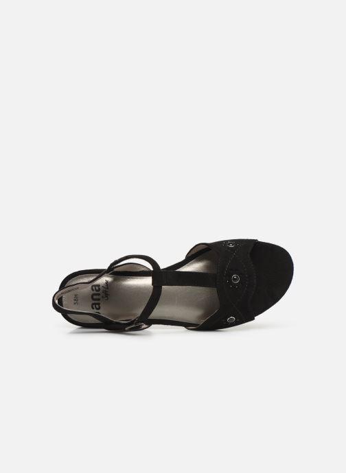 Sandales et nu-pieds Jana shoes Ella Noir vue gauche