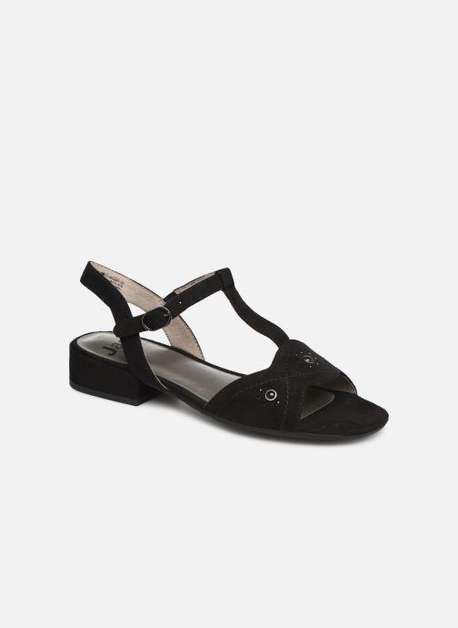 Sandals Jana shoes Ella Black detailed view/ Pair view