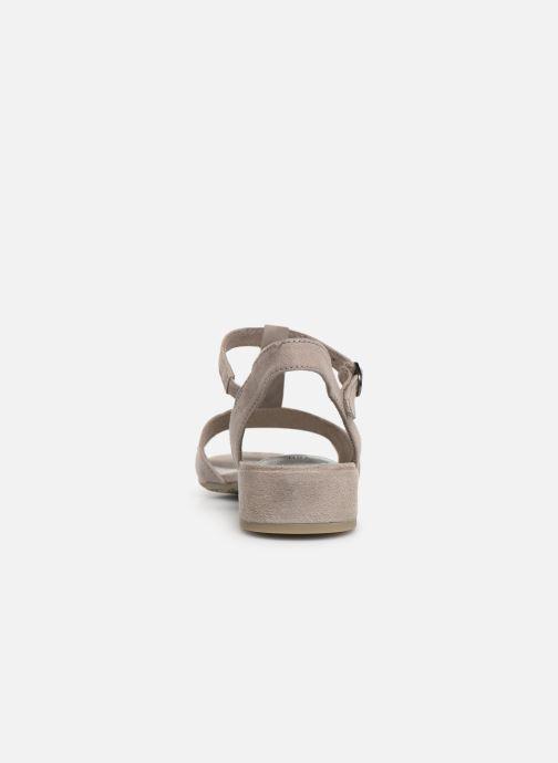 Sandales et nu-pieds Jana shoes Ella Gris vue droite