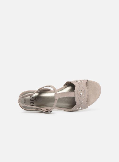 Sandales et nu-pieds Jana shoes Ella Gris vue gauche