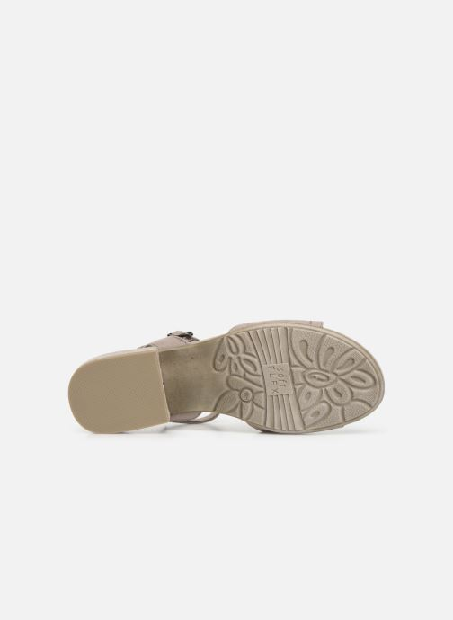 Sandales et nu-pieds Jana shoes Ella Gris vue haut