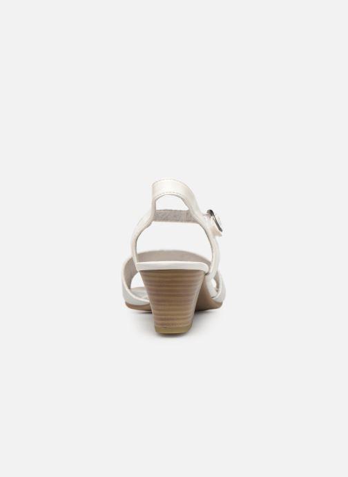 Sandales et nu-pieds Jana shoes Mia Blanc vue droite