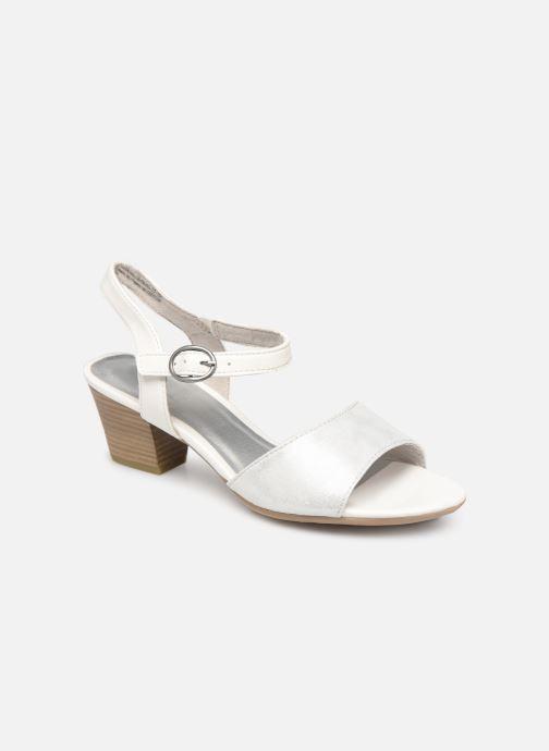 Sandals Jana shoes Mia White detailed view/ Pair view