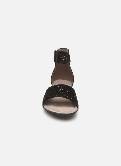 Sandales et nu-pieds Jana shoes Blanche Noir vue portées chaussures