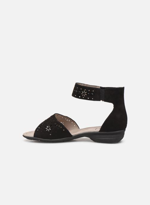 Sandales et nu-pieds Jana shoes Blanche Noir vue face
