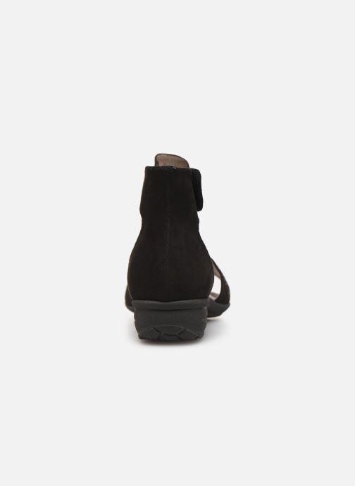 Sandales et nu-pieds Jana shoes Blanche Noir vue droite