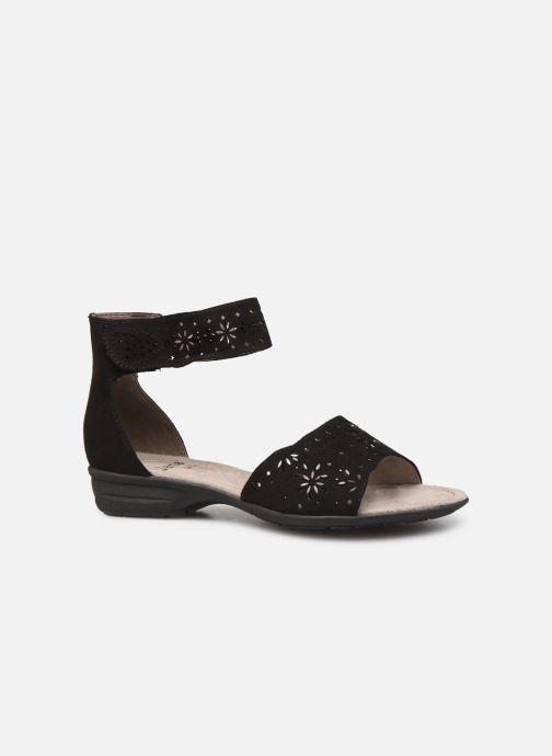 Sandales et nu-pieds Jana shoes Blanche Noir vue derrière