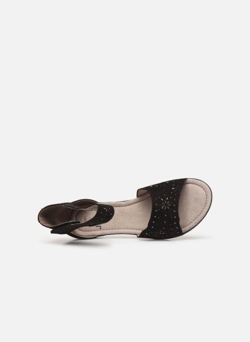 Sandales et nu-pieds Jana shoes Blanche Noir vue gauche