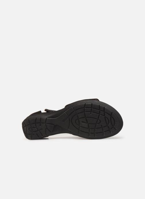 Sandales et nu-pieds Jana shoes Blanche Noir vue haut
