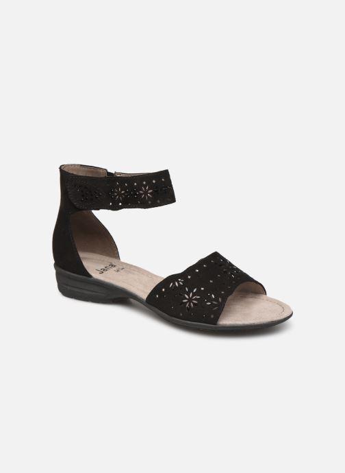 Sandales et nu-pieds Jana shoes Blanche Noir vue détail/paire