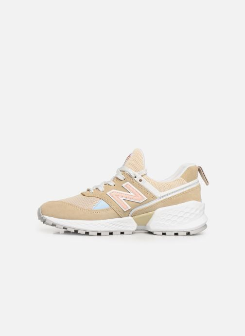 Sneakers New Balance W574 Beige se forfra