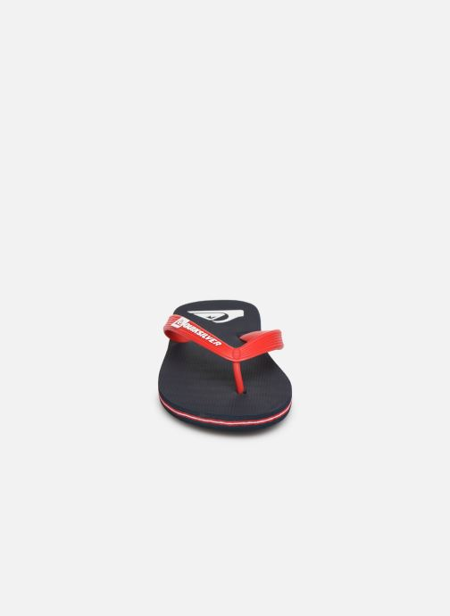 Tongs Quiksilver Molokai Youth Rouge vue portées chaussures